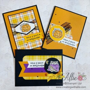 Cute Halloween Cards to make with Have a Hoot bundle