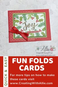 Gift card holder - Easy Fun Folds for Christmas Cards