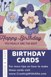Cute Birthday handmade cards using the Paper Blooms from Stampin Up!