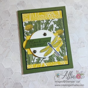 Thank you handmade cards using the Dandy Garden Suite