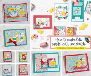 How to make lots of cards with one single sketch!