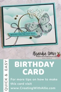 Card Making Made Easy with the Butterfly Bouquet