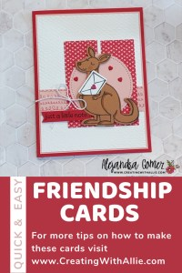 Cute Friendship handmade card using the Kangaroo & Company Bundle from Stampin' Up!