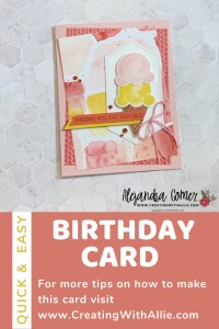 Fun Birthday card idea with the Ice Cream Corner Suite from Stampin' Up!