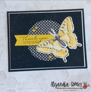 Thank you Handmade Card using the Butterfly Bijou DSP