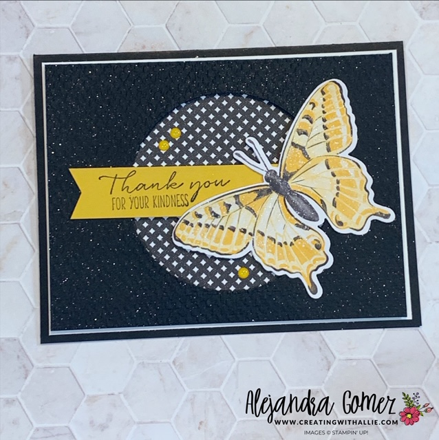 Thank you card using the Butterfly Brilliance Bundle from Stampin' Up!