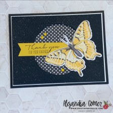 Thank you card using the Butterfly bijou DSP