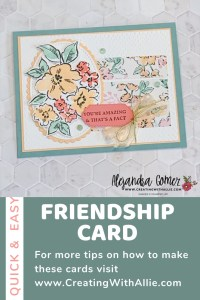 Friendship  card using the Hand Penned Petals bundle from Stampin' Up!