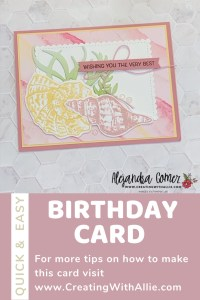 Beautiful Birthday cards using the Sand & Sea Bundle from Stampin' Up!