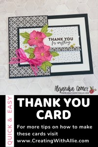 Easy fun fold to make for a thank you card