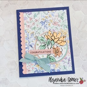 Easy card with the Hand-Penned Suite from Stampin' Up!