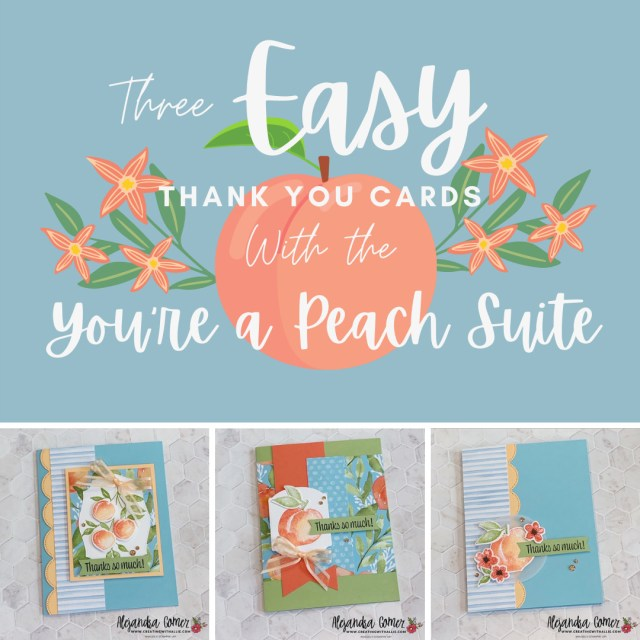 Three easy Thank you Cards to make with the You're a Peach Suite from Stampin' Up!