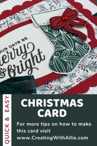 Easy and Quick Christmas card idea in july using the Tidings of Christmas suite from Stampin' Up!