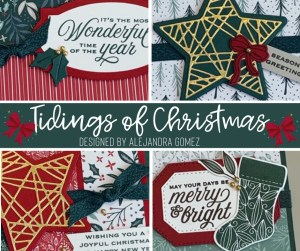 Tidings of Christmas card class - First class in the 2021 Stamp-a-stack series