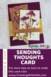 How to make a thinking of you card using the Nature Harvest Bundle