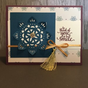 Eastern Palace Card To Think of You is to Smile