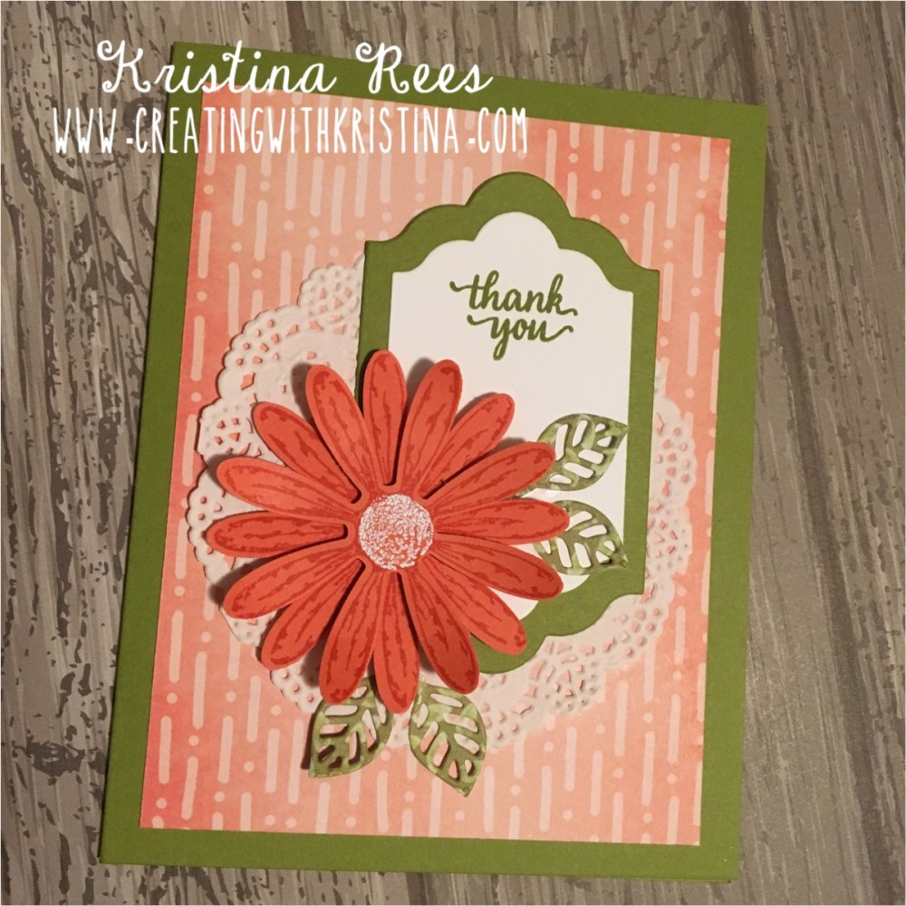 Daisy Delight Quick Thank You Card