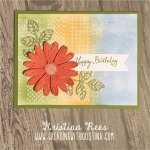Daisy Delight ink resistant background Birthday