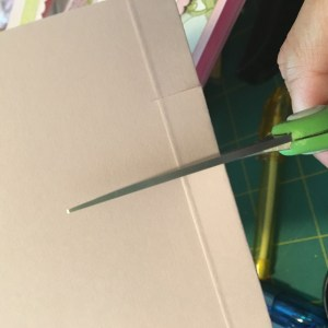 Post it Note Holder cut slits