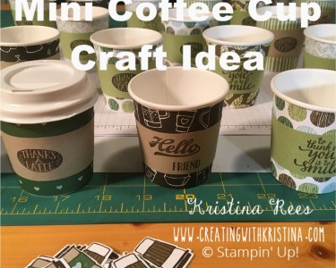 mini Coffee Cup Craft Idea