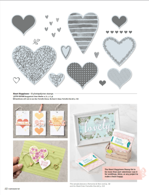2018 Stampin' Up! Occasions Catalog Heart Happiness www.creatingwithkristna.com