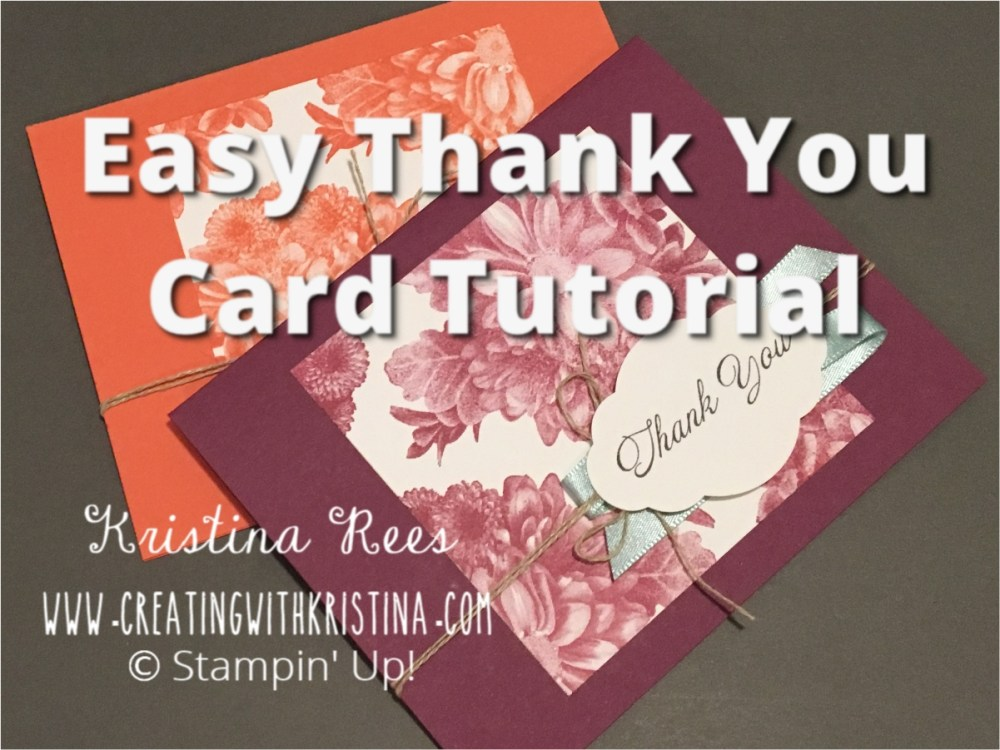 Easy Thank You Card To Make