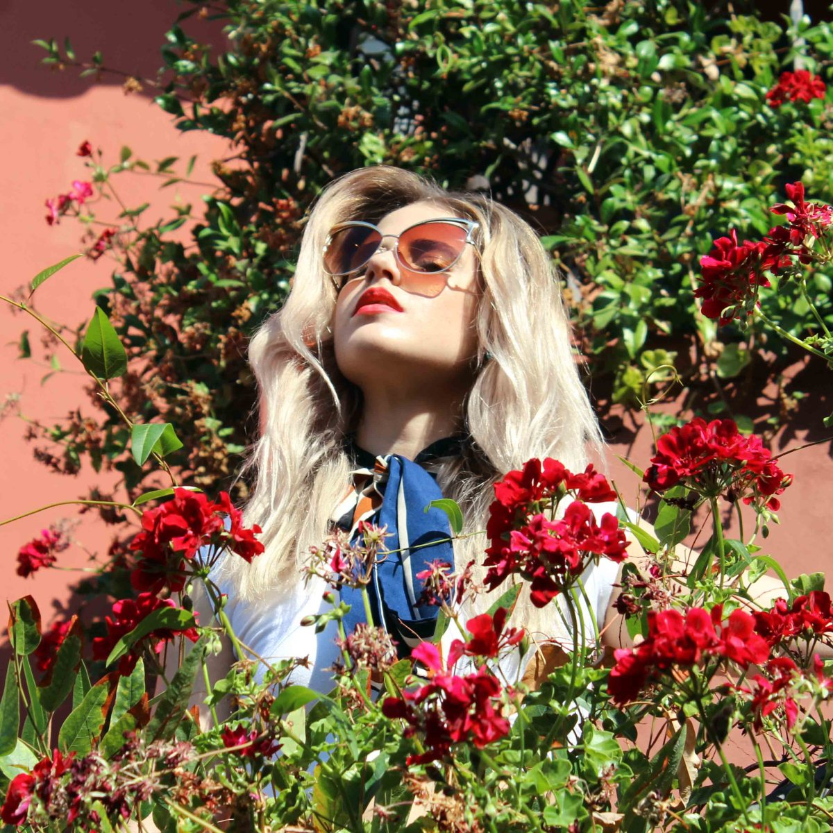 Floral Beauty Editorial Sunglasses