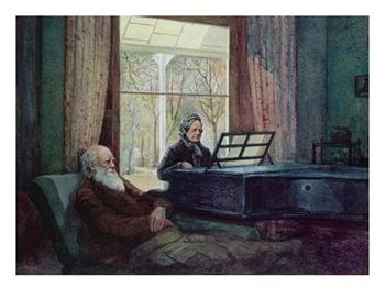 Charles Darwin et sa femme