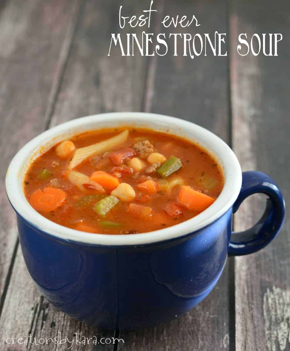 Best Ever Minestrone Soup