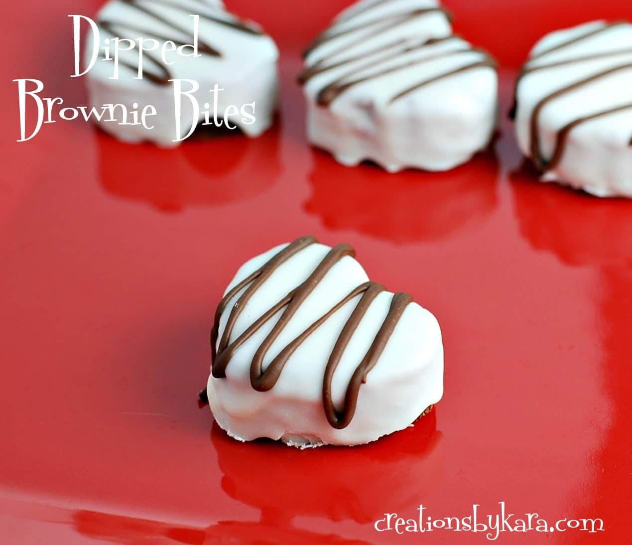 Heart Shaped Brownie Bites For Valentines Day