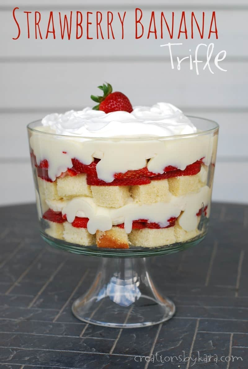 Strawberry Banana Trifle Creations By Kara