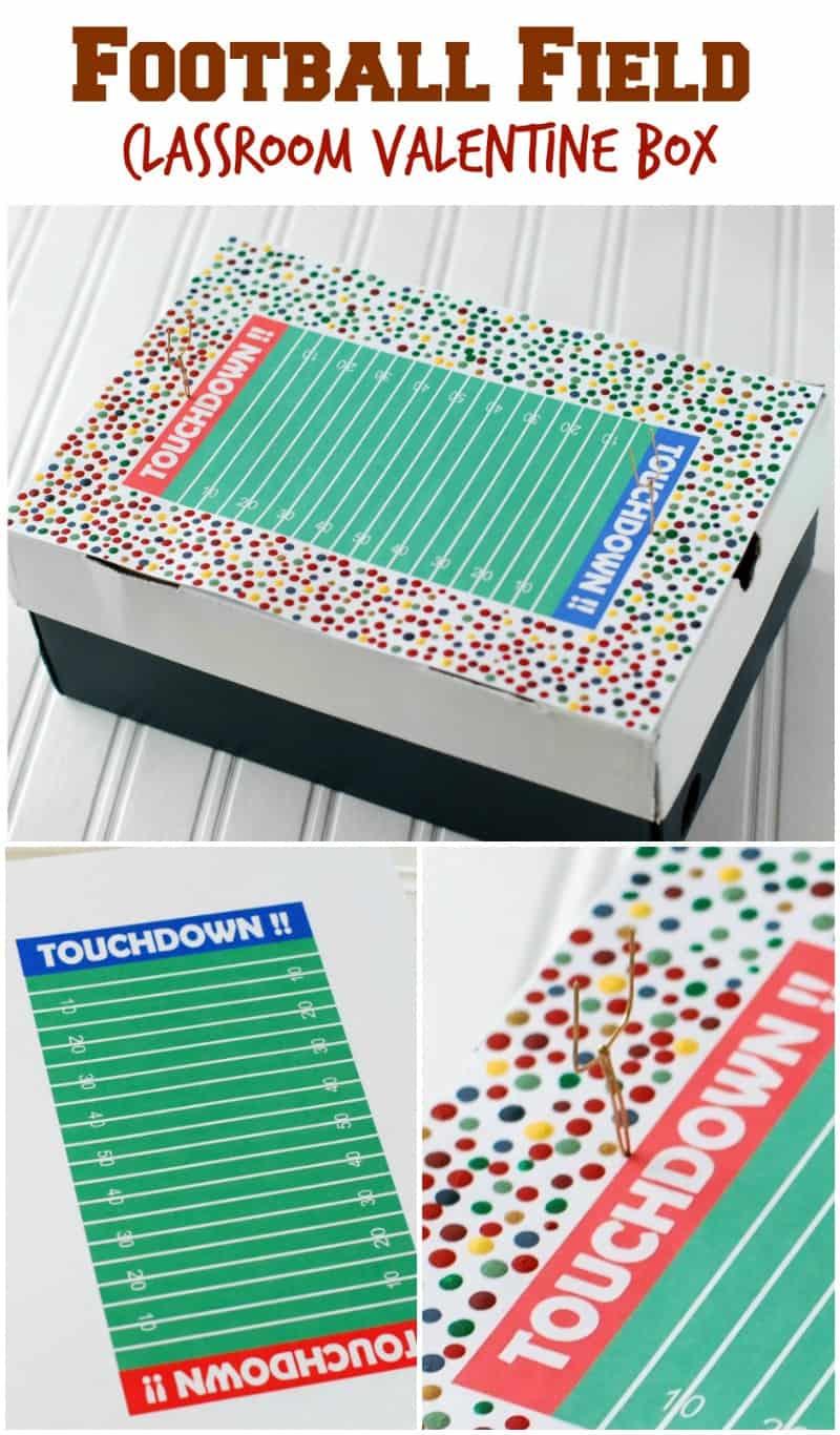 Football Field Valentine Box For Boys