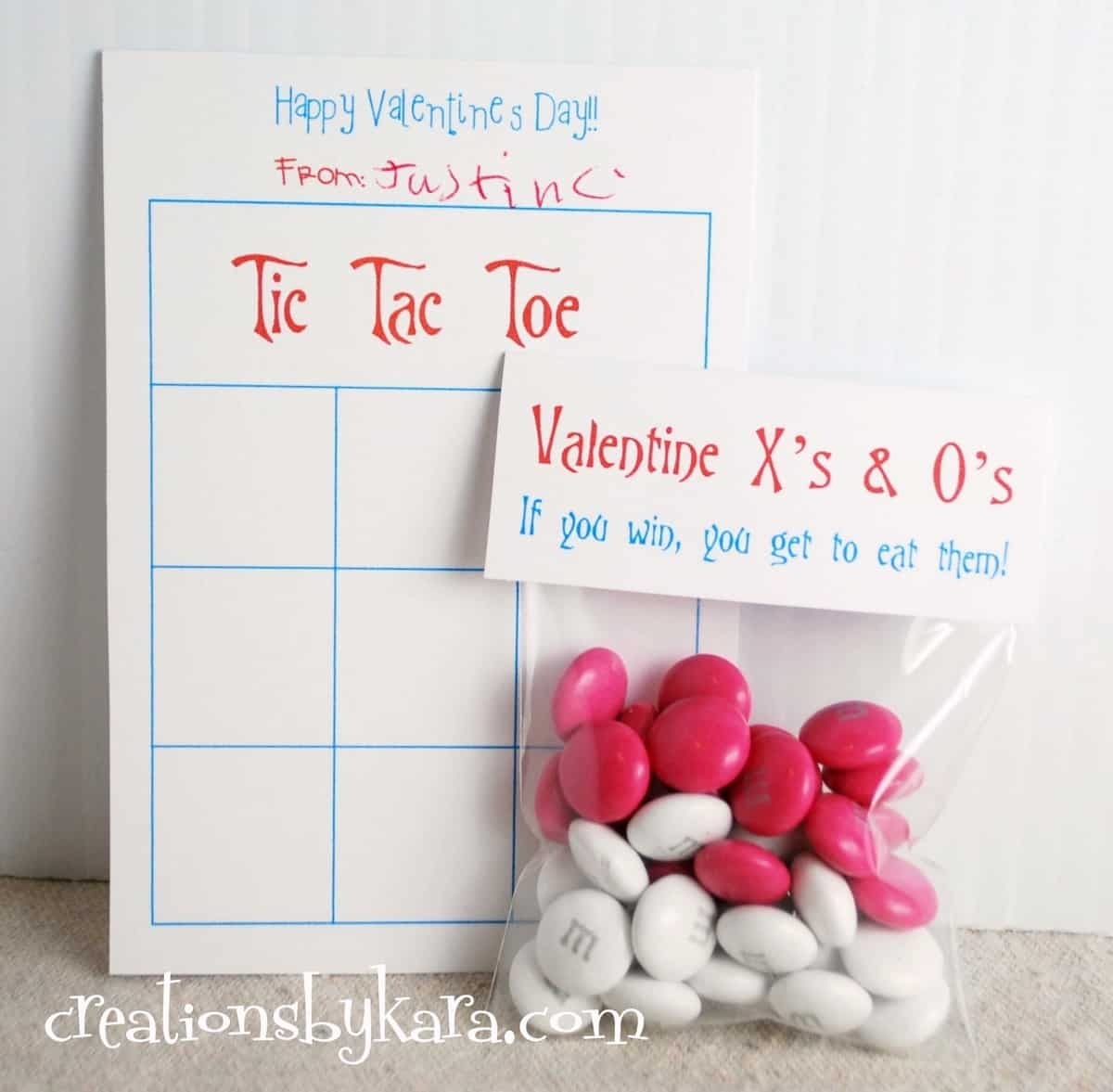 Flashback Friday Printable Tic Tac Toe Valentine Cards