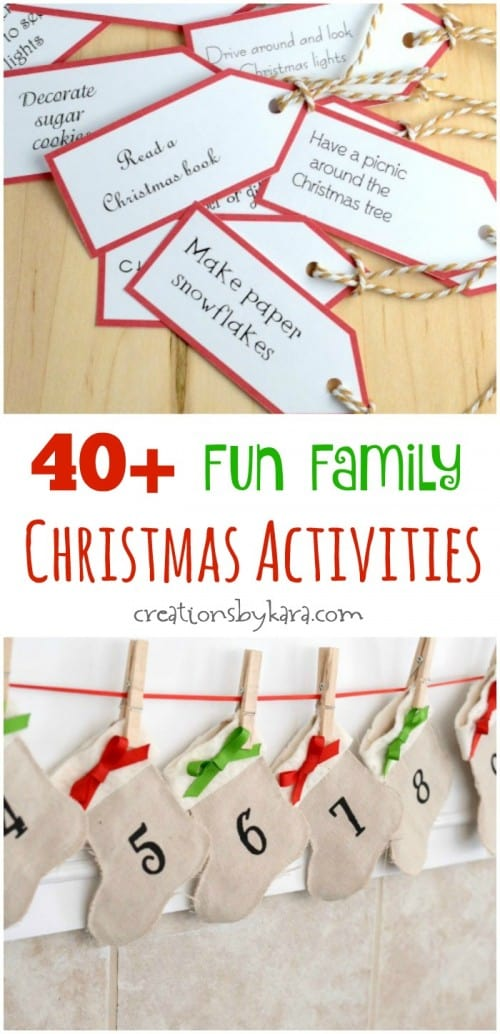 Christmas Activities For Advent Calendar