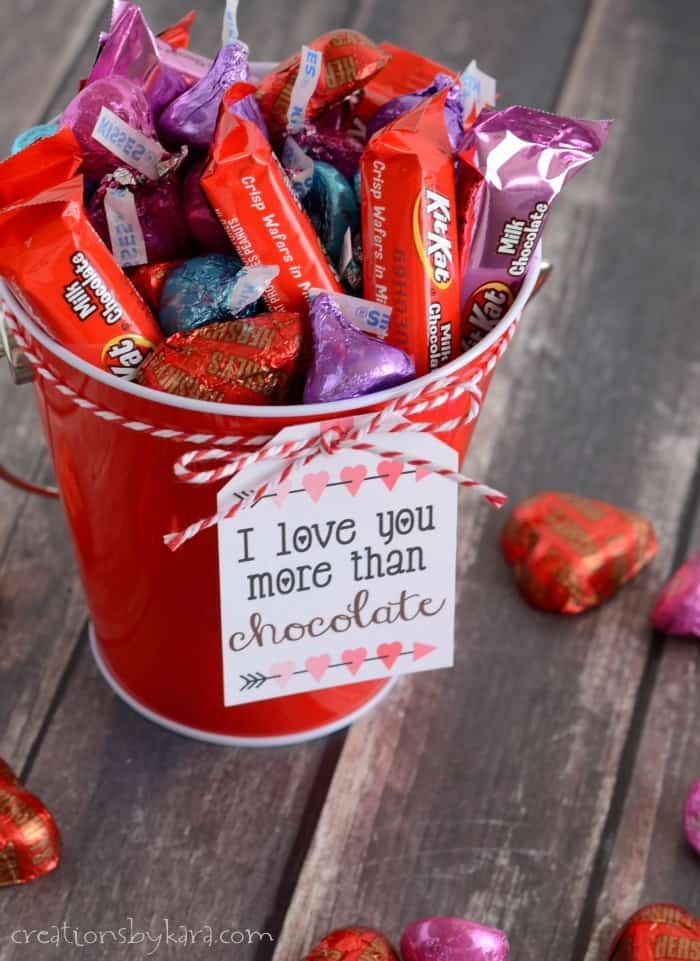 Chocolate Lovers Valentines Gift Baskets With Printable