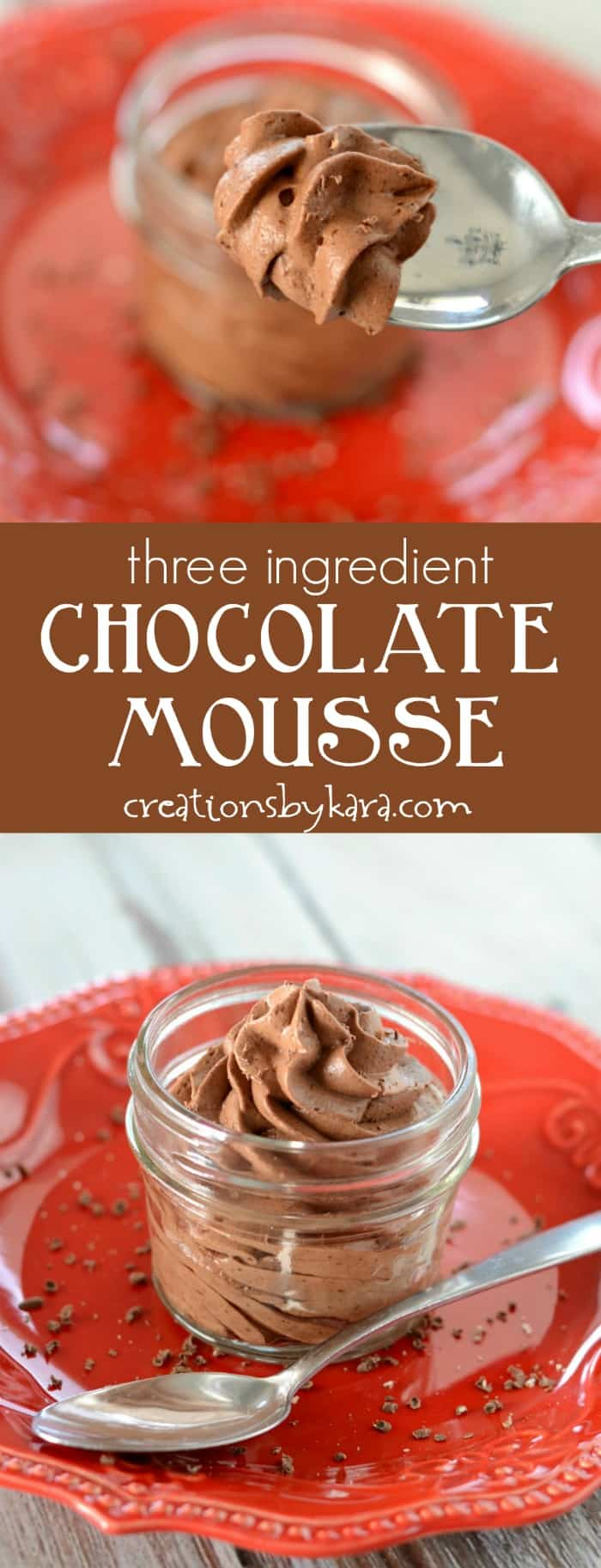 Easy Chocolate Mousse 3 Ingredient Creations By Kara