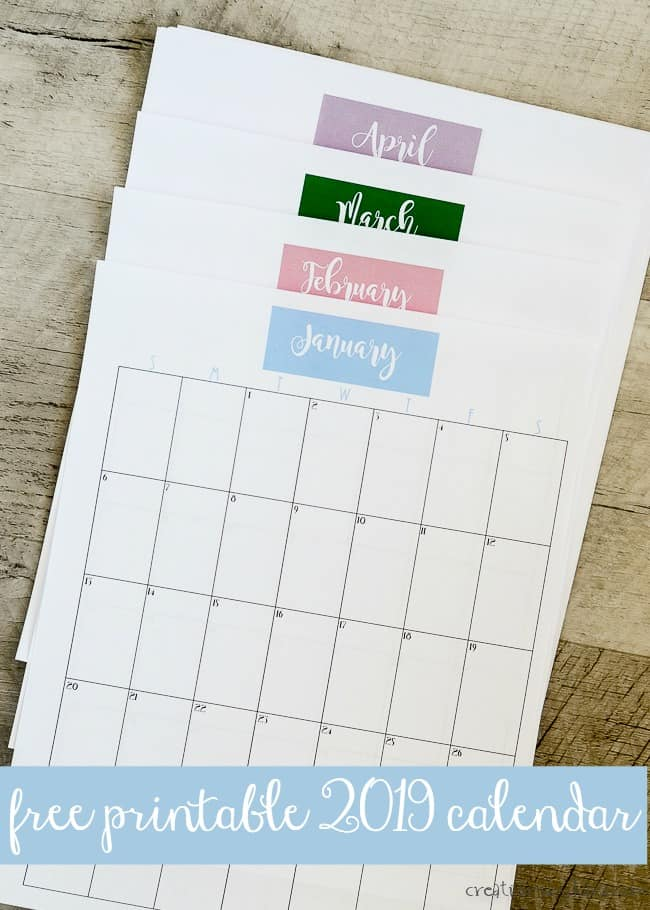 Free printable 2019 calendar with holidays - Simply Couture