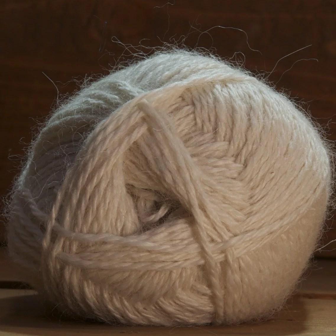 laine alpaga écru