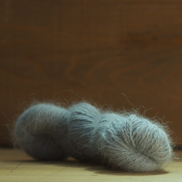 Pelote angora «Douceur» Gris Perle
