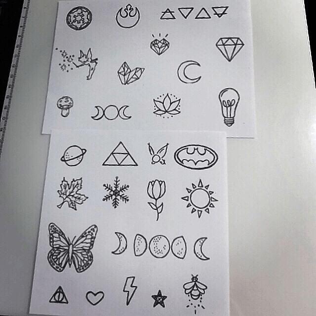 uv tattoo flash small tatouage