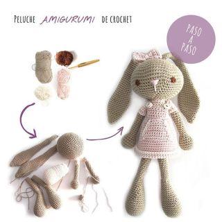 conejita de crochet amigurumi