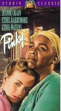 The film is about a light-skinned African-American nursing student, played by Crain, passing for white.