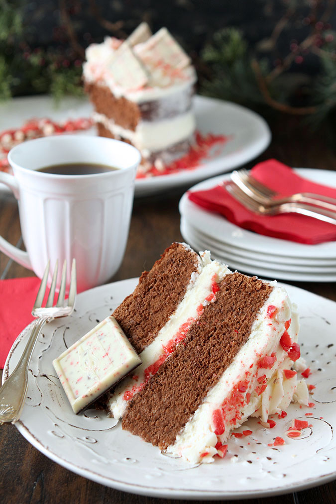 Chocolate Cake with Peppermint Buttercream Frosting ...