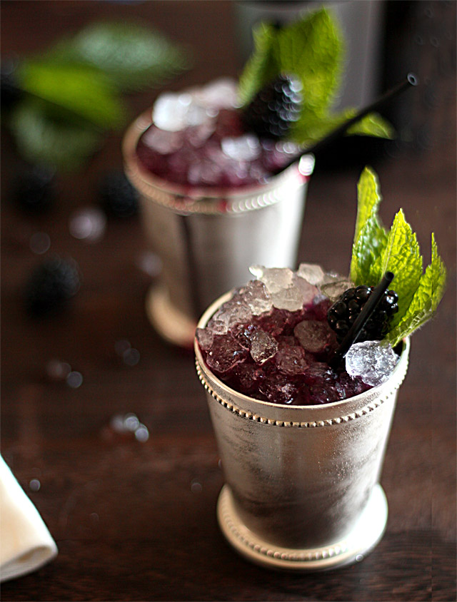 Sparkling Blackberry Mint Julep