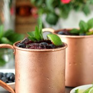 Blueberry Mint Moscow Mule