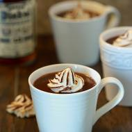 Bourbon Hot Chocolate with Torched Meringues