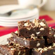 Gooey Brownies with Toasted Pecans & White Chocolate Chips