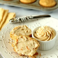 Carrot Corn Muffins with Maple Butter