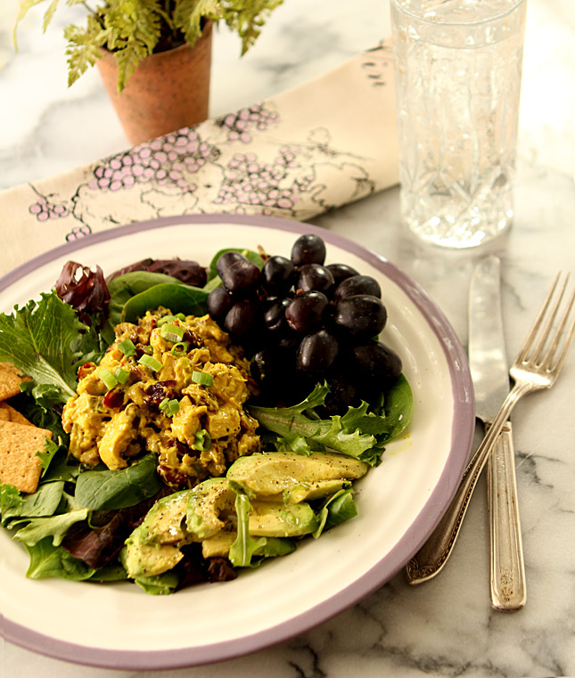 Curried Chicken Salad with Dried Cranberries and Toasted Walnuts ...