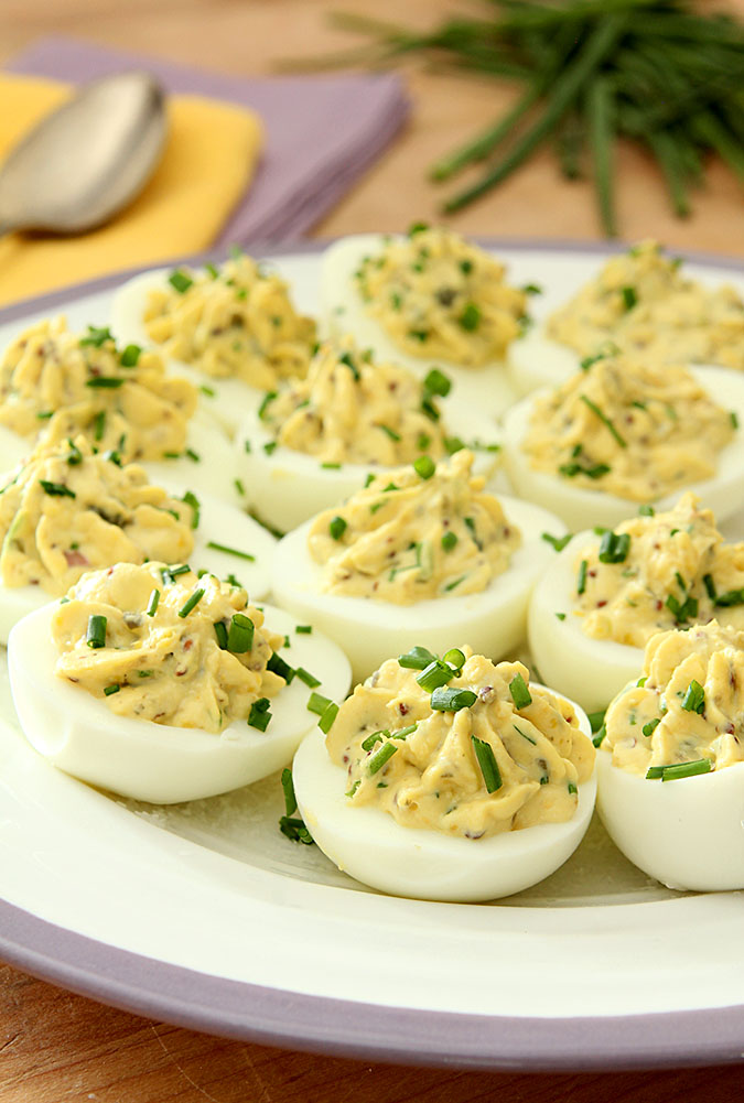Deviled Eggs with Lemon Zest, Capers and Chives | Creative ...
